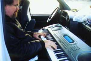 Bill in the keyboard studio