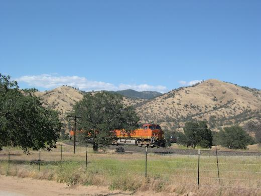 Train near the Tehachapi Loop